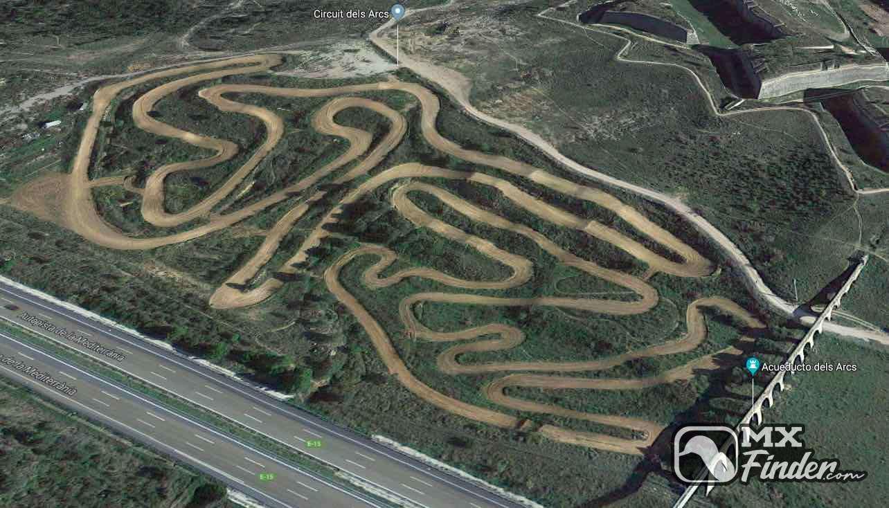 motocross, Circuit els arcs, Figueres, motocross track